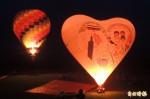 台東熱氣球光雕音樂會 「送子鳥」球首發見客