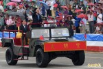 馬主持抗戰紀念暨國防戰力展示 日軍事代表若有所思