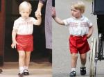 白上衣紅短褲 超萌小喬治宛如父親30年前翻版