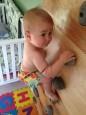 極限胎教! 寶寶才8個月就會攀岩