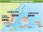 《TAIPEI TIMES 焦點》 Tropical storm to skirt nation's coast, CWB says