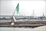 防強風豪雨 浮筏式蚵棚急入港
