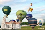 鹿野高台大教堂、冰淇淋造型熱氣球 亮相