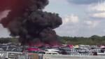 英小型飛機墜毀停車場 機內4人死亡