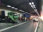 國道3號中寮隧道7車追撞 3人輕傷