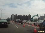 頭前溪大橋 自行車專用道施工