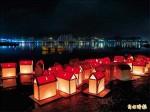 蘆洲湧蓮寺放水燈 照亮淡水河