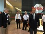 經濟部長鄧振中參訪台積電 未談12吋廠登陸