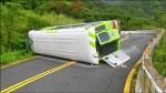 陽明山公車翻覆21傷 超載又煞車失靈