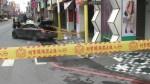 花蓮街頭飛車追逐 撞車竟掉爆裂物?