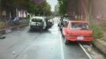 竹北今晨汽機車相撞後起火燃燒 騎士受傷