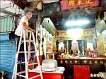 老榕壓毀蓬萊廟 神明授意移植