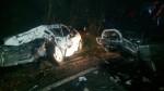 疑似轉彎不慎 台七線宜蘭段兩車對撞車頭全毀