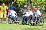 輪椅槌球賽 脊損者競技