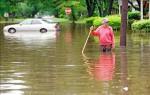 美南卡暴雨 淹成水鄉澤國