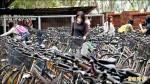 成大二手單車認領 約200輛秒殺