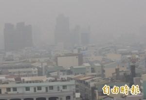 台南安南區今晨PM2.5一度紫爆 全國最糟