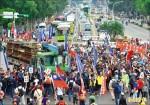 抗議年改團體串聯 與警爆發數波衝突