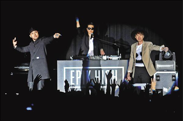 EPIK HIGH嘻哈台北嗨電逾千粉絲