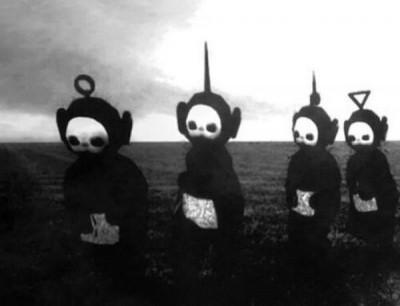 黑白版《天線寶寶》嚇嚇叫    宛如恐怖片