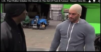 保羅沃克生前調皮    戴頭套裝肌肉自稱馮迪索