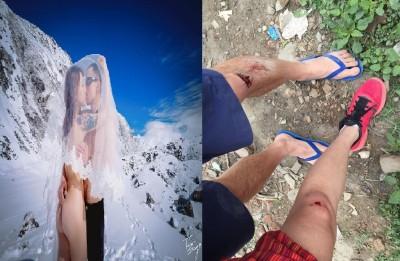 尼泊爾「震」撼第一現場     美女部落客掛彩