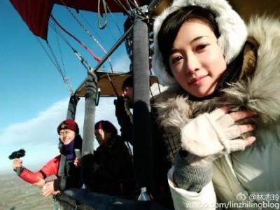 林志玲坐熱氣球超緊張   嘴硬說浪漫