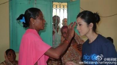 救助尼泊爾    楊采妮籲捐贈乾淨水