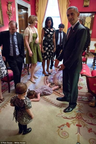 小孩發脾氣「仆街」     歐巴馬也沒轍