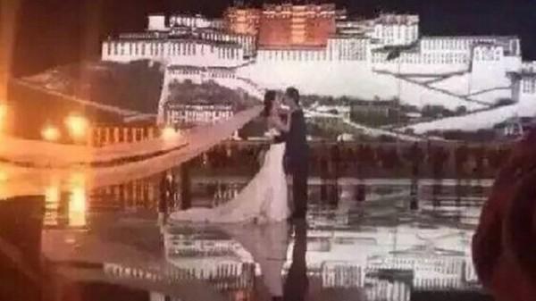 網曝李晨在布達拉宮前向范爺求婚 超甜蜜