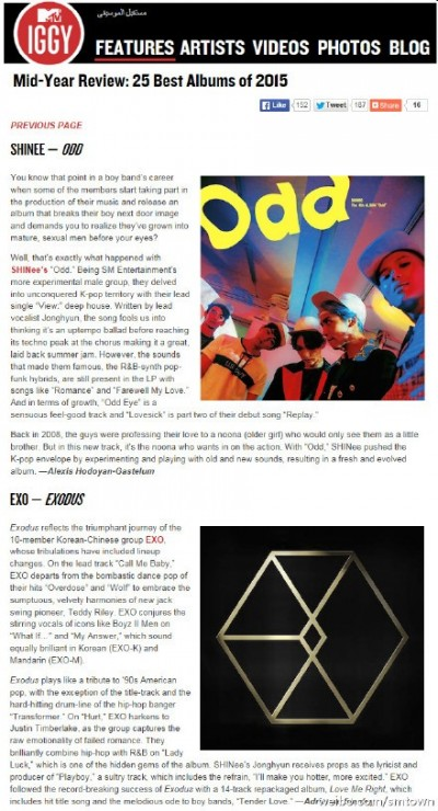 韓2男團 入選上半年最佳專輯