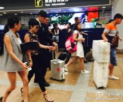 楊子晴機場被堵 揚言有未爆彈