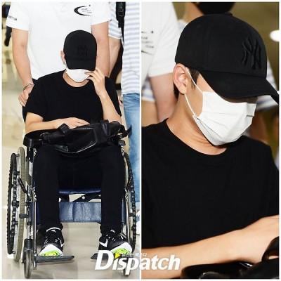 心疼!D.O.日本負傷 坐輪椅返韓
