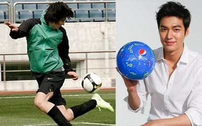 男神李敏鎬 差點當上職業足球員?