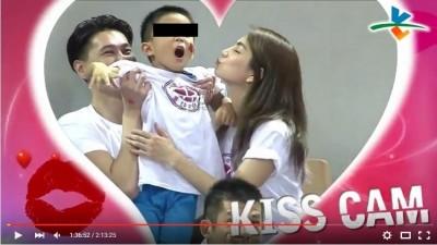 Ella觀戰瓊斯盃 「KISS CAM」曬恩愛