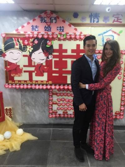瑞莎今登記 正式成為台灣媳婦