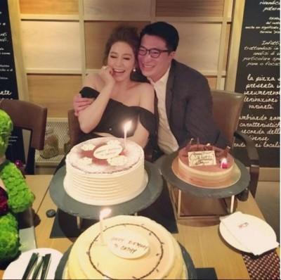 「千億媳婦」收老公吻 爽吃3個蛋糕
