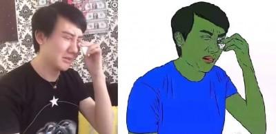蛇精男假哭被修成綠殭屍  反嗆網友「要有自知之明」