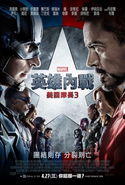 吸金猛!《美國隊長3》登台5天賣翻 《復仇者2》讓位