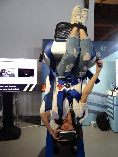 亞洲唯一360度VR遊樂椅來台 搬進世新畢展