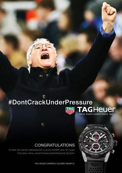 「足好」當紅足球教練Claudio Ranieri加入豪雅代言