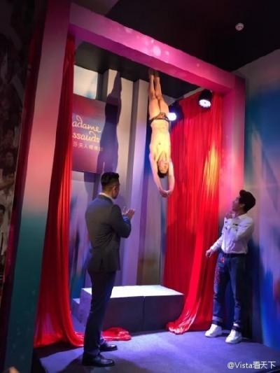 中國蠟像就是狂 「倒吊」體位本尊看傻