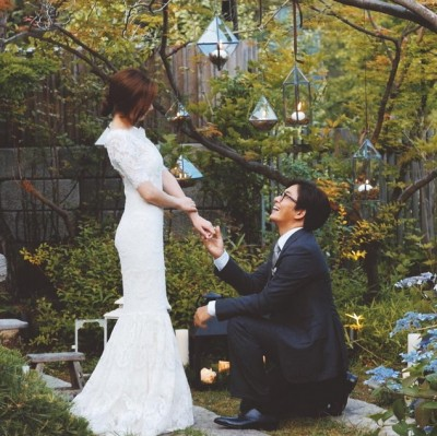結婚滿1週年 勇嫂新娘捧花照示愛