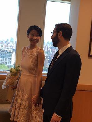 胡婷婷紐約結婚 大呼「傻瓜我等16年了」