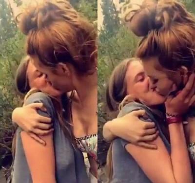 18歲迪士尼童星分了男友就出櫃 激情熱吻女性好友