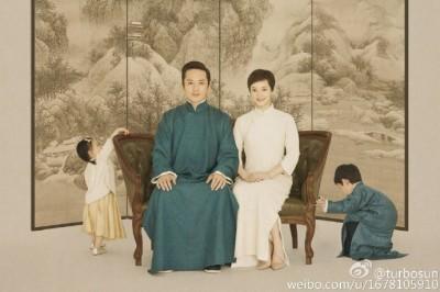 孫儷女兒正面照曝光 網友:一看就是鄧超女兒