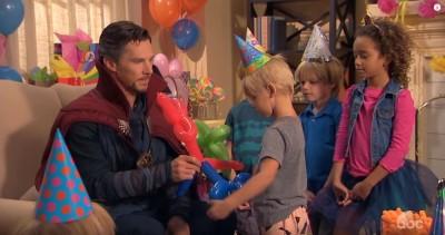 (影音)奇異博士受聘參加孩子生日會 結果竟...