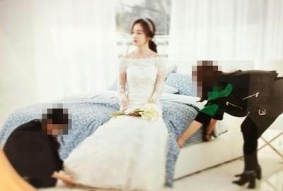 明天要嫁給Rain啦  金泰希披婚紗根本仙女下凡