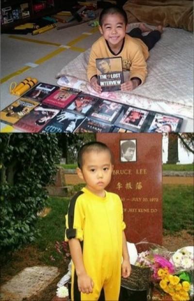 6歲男童青筋炸裂 網瘋傳:根本是李小龍投胎