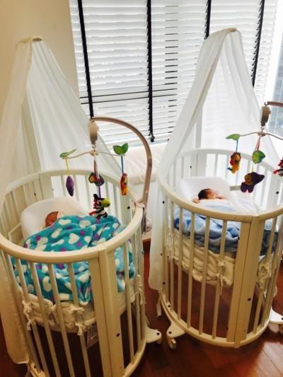 狂賀!楊采妮曬嬰兒床 平安生下雙胞胎